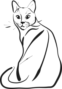 Dibujos de Gatos faciles