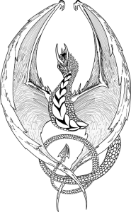 Dragon dibujo facil