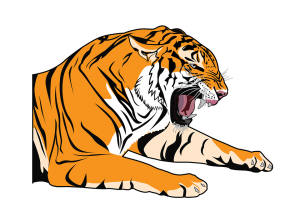 Pintura de tigres para niños