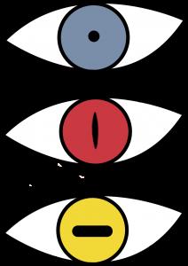 dibujo de ojos de naruto