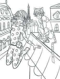 dibujos de ladybug y cat noir