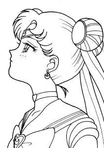 sailor moon para pintar