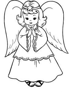 angeles dibujos a lapiz