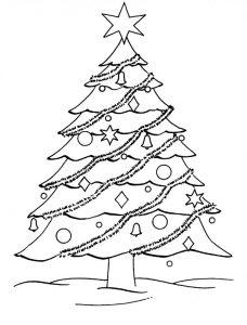 arbol de navidad para colorear y recortar