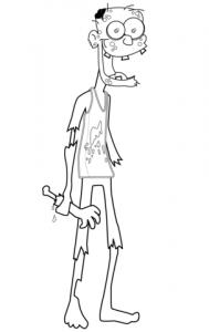 cómo dibujar un zombie