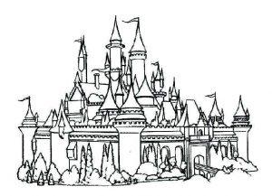 cómo se dibuja un castillo