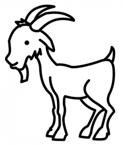 cabra animada