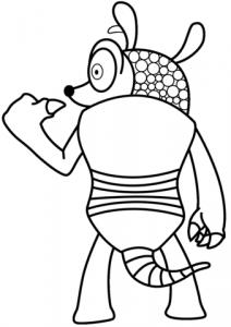 caricatura de armadillo