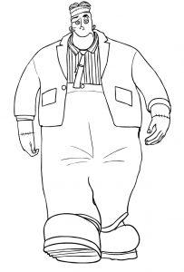 caricatura de frankenstein