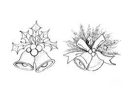 como dibujar campanas navideñas