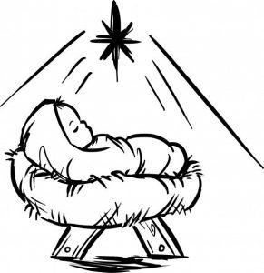 como dibujar el nacimiento de jesus