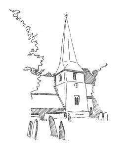 como dibujar iglesias
