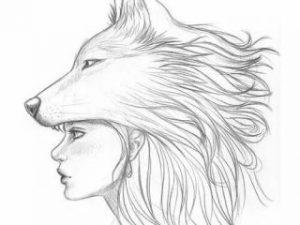 como dibujar un lobo facil