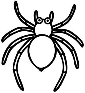 como dibujar una araña facil