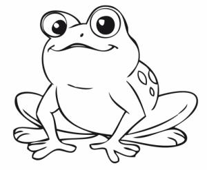 como dibujar una rana