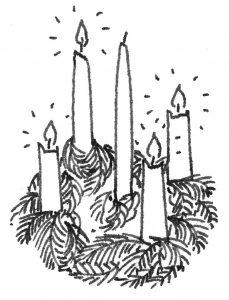 corona de navidad dibujo