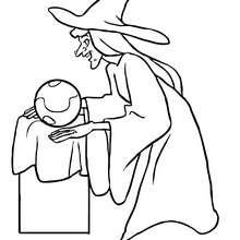 dibujar brujas infantiles