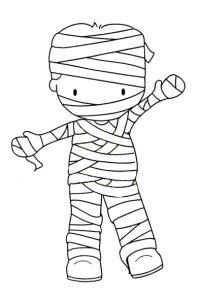 dibujar una momia