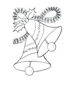 dibujo de campana navideña