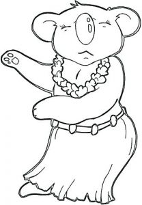 dibujo de koala para niños