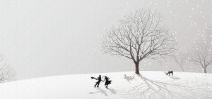 dibujo de nieve para imprimir