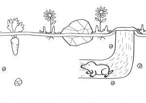 dibujo del topo