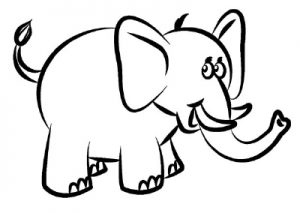 dibujo elefante facil
