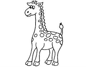 dibujo jirafa para niños