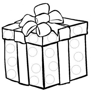 dibujo paquete regalo