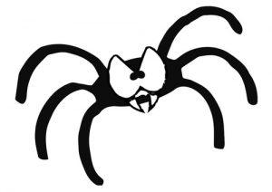 dibujos de arañas para niños