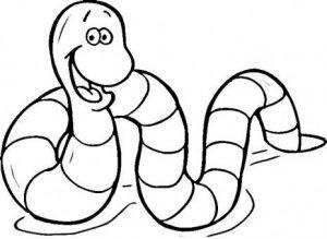 dibujos de gusanos infantiles