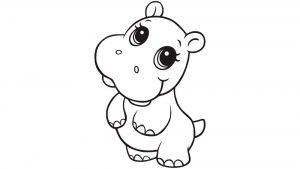 dibujos de hipopotamos para niños