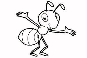 dibujos de hormigas faciles