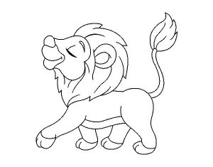 dibujos de leones animados
