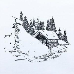 dibujos de niños en la nieve