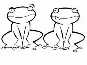 dibujos de ranas para colorear