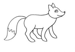dibujos de zorros a lapiz