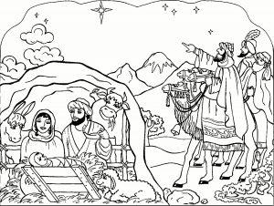 dibujos del nacimiento de jesus para colorear