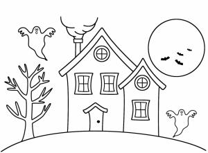 dibujos para colorear de casas embrujadas