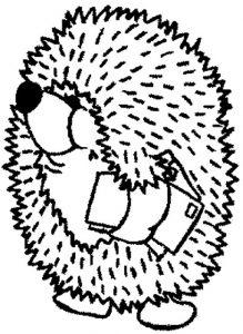 dibujos para colorear de erizos