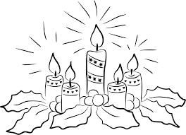 dibujos velas de navidad