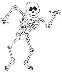 esqueleto para recortar