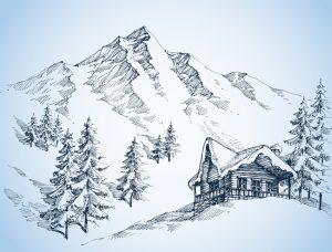 estrellas de nieve de papel