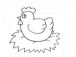 gallina dibujo animado