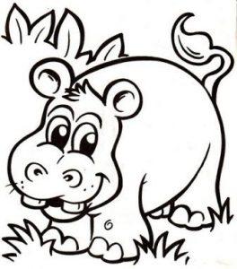 hipopotamo dibujo infantil