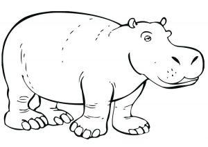 hipopotamo para pintar