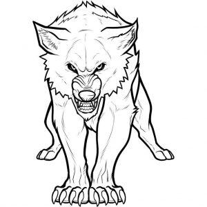 hombre lobo dibujo