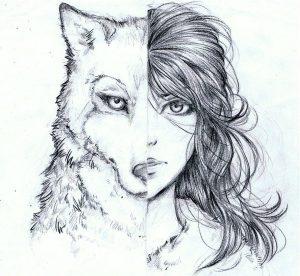 hombre lobo para dibujar