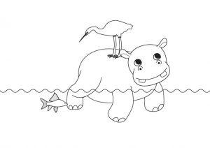 imagenes de hipopotamos animados