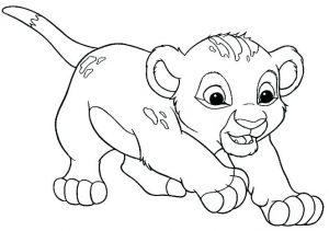 imagenes de leones para colorear